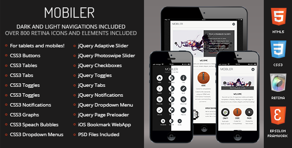 Mobiler | Mobile & Tablet Responsive Template