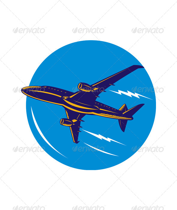 GraphicRiver commercial jet plane airliner 5198714