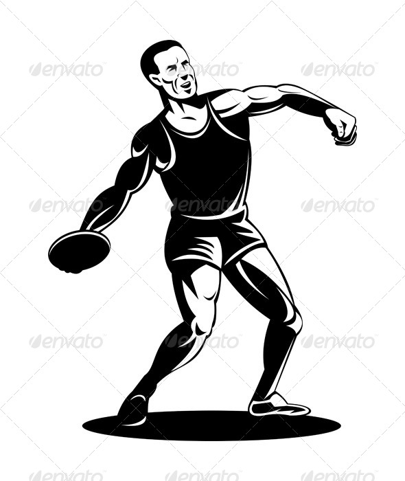 GraphicRiver Track and Field Discuss Throw Athlete 5198831