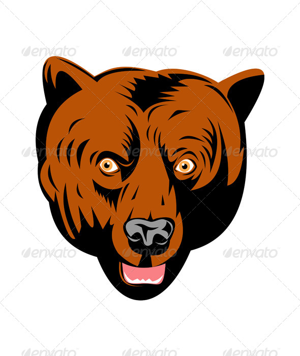 GraphicRiver Grizzly Brown Bear Head 5199062
