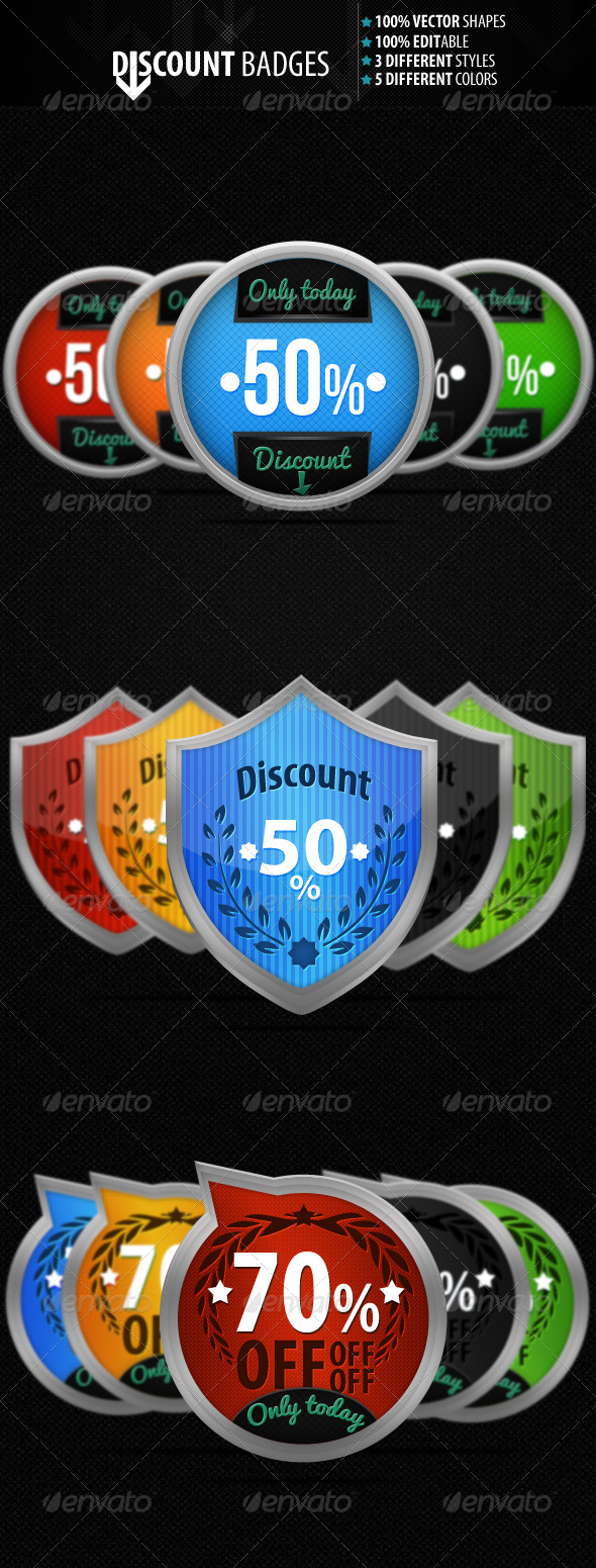 Discount Badges - Badges & Stickers Web Elements