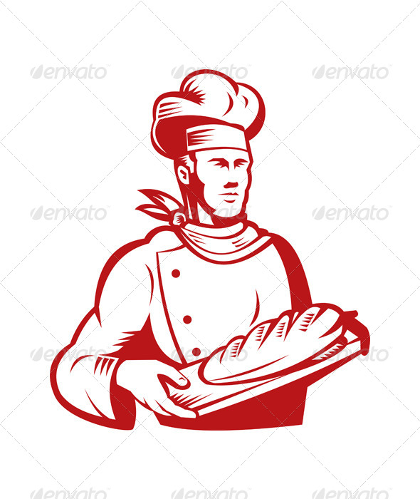 GraphicRiver Chef Holding Dough Bread 5199321