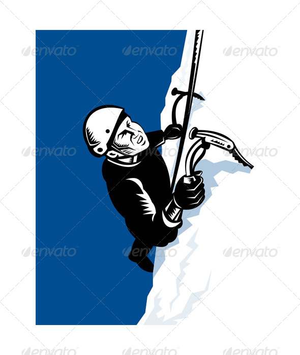 GraphicRiver Male Mountain Climber with Pick Ax 5199361