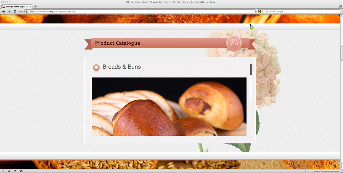 Old Bakery–Layered (Parallax) HTML5 Web Template