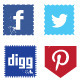 48 Grungy Social Media Icons  - GraphicRiver Item for Sale