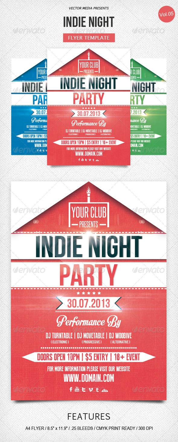 GraphicRiver Indie Night Flyer [Vol.5] 5200332