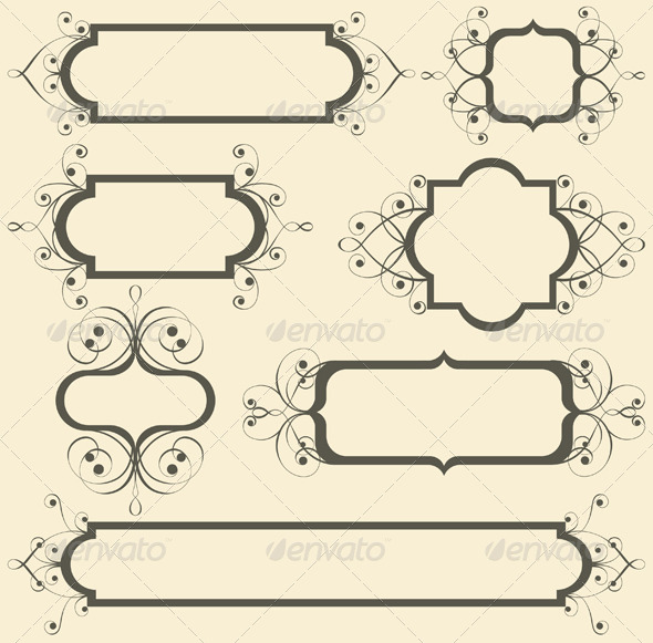 GraphicRiver Retro-Styled Frames 5200336