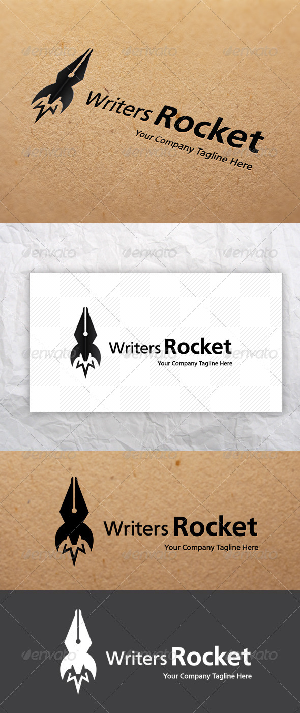 GraphicRiver Writers Rocket Logo 5189045