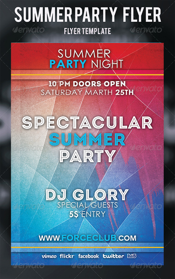 GraphicRiver Summer Party Flyer 5201619