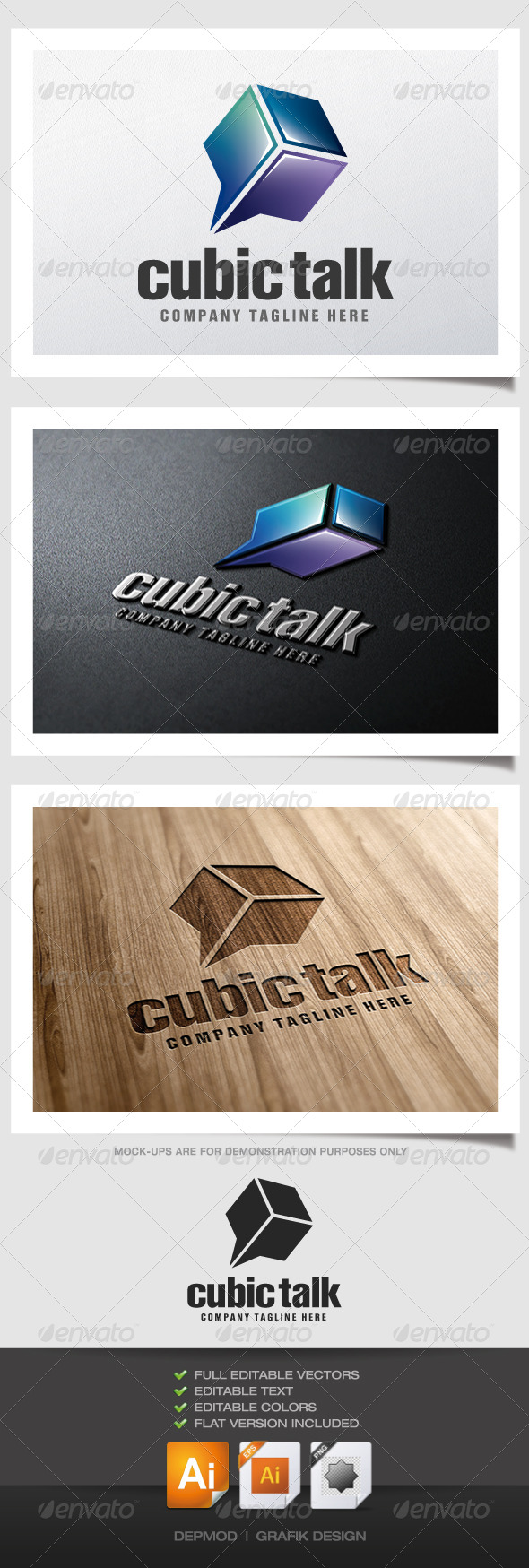 GraphicRiver Cubic Talk Logo 5202248