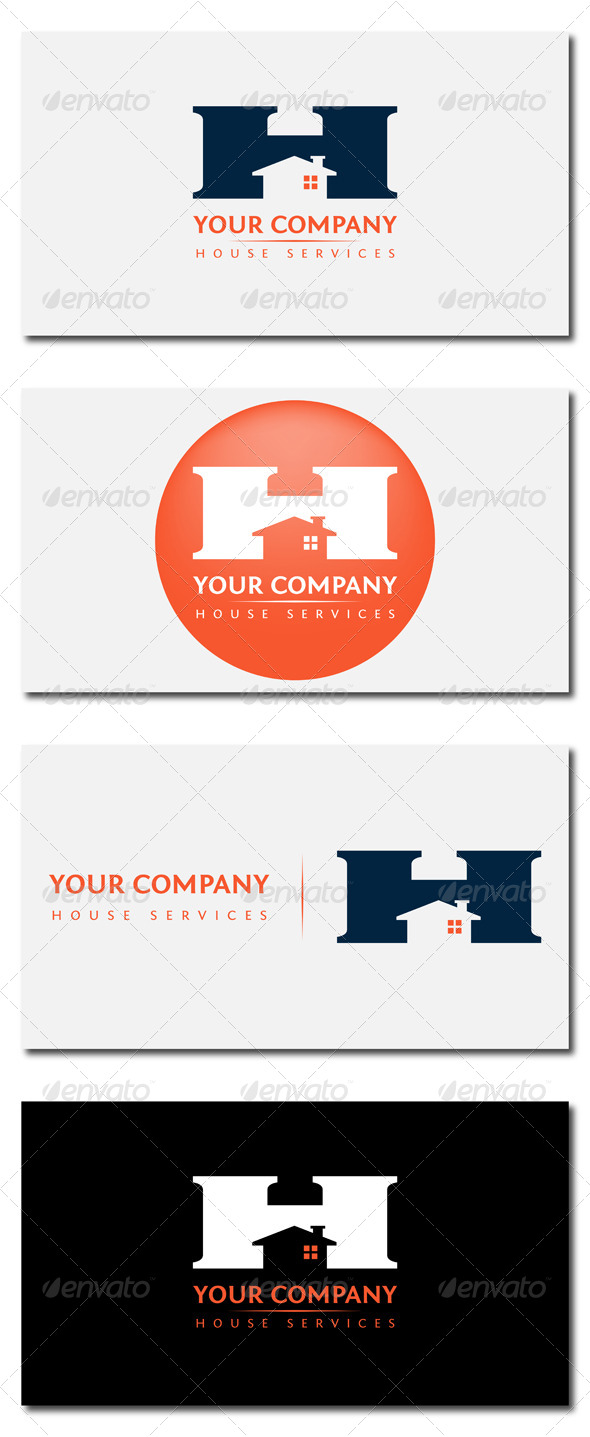 House Services - Letters Logo Templates