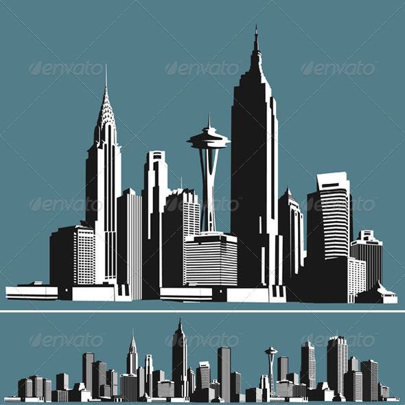 GraphicRiver City Skyline 5195662