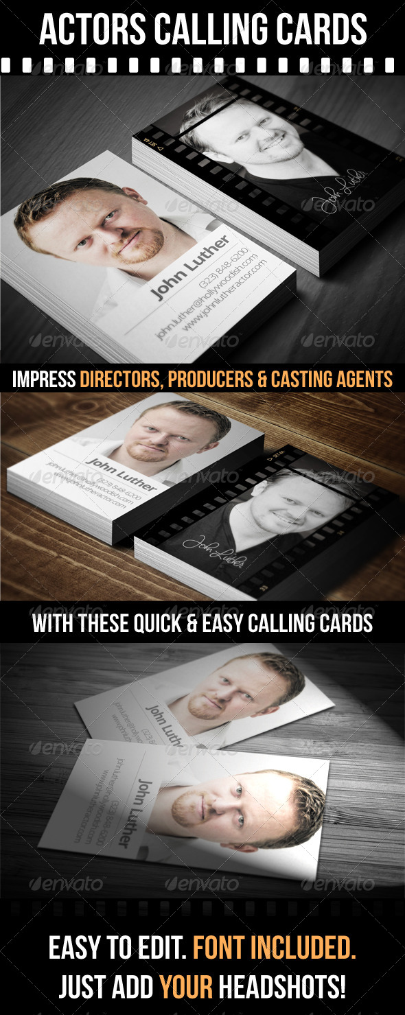 GraphicRiver Actors Calling Cards 5140973