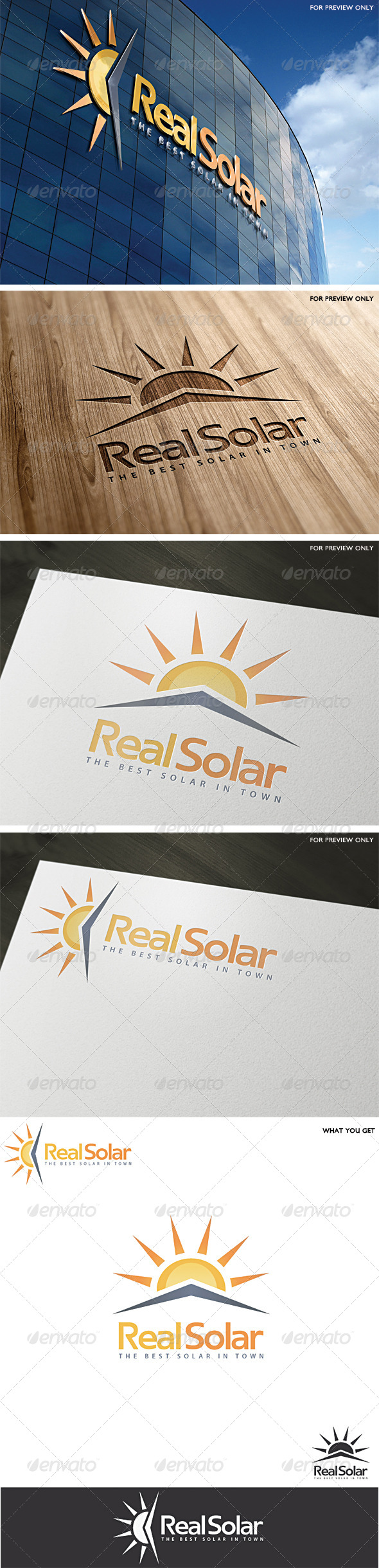 Solar Logo Template v2 - Abstract Logo Templates