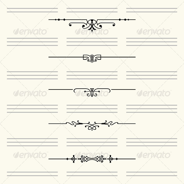 GraphicRiver Dividers for Website and Other Design 5206730