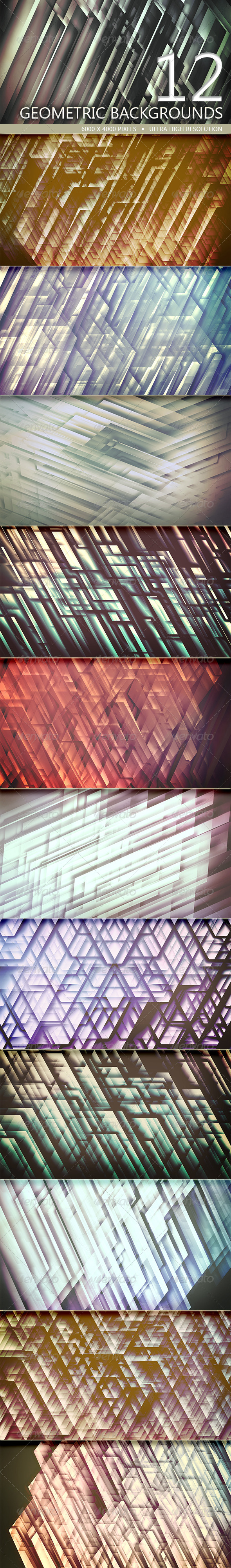 GraphicRiver Geometric Backgrounds Volume 3 5206961