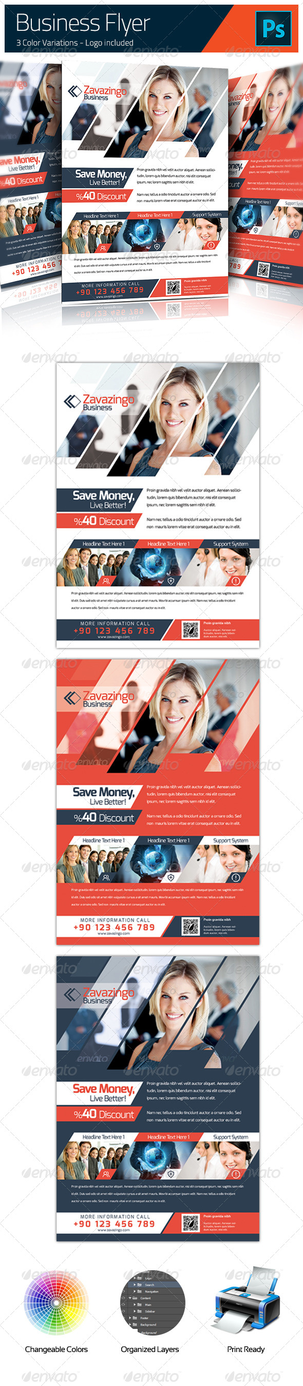GraphicRiver Corporate Flyer 5207867