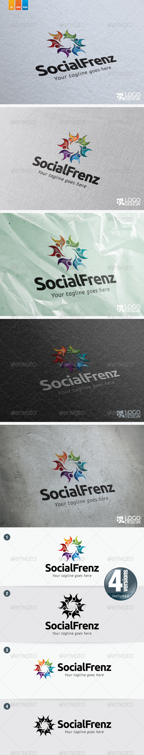 Social Frenz - Humans Logo Templates