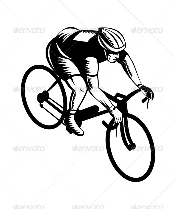 GraphicRiver Cyclist Riding Bicycle 5208113