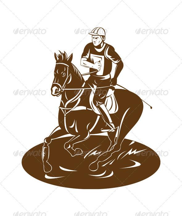 GraphicRiver Equestrian Riding Horse 5208183