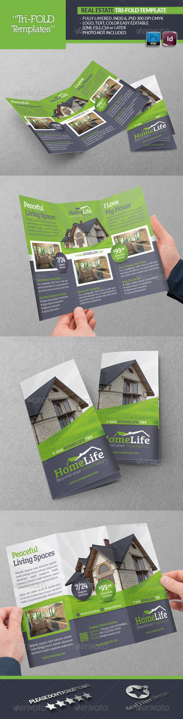 GraphicRiver Real Estate Tri-Fold Template 5208347