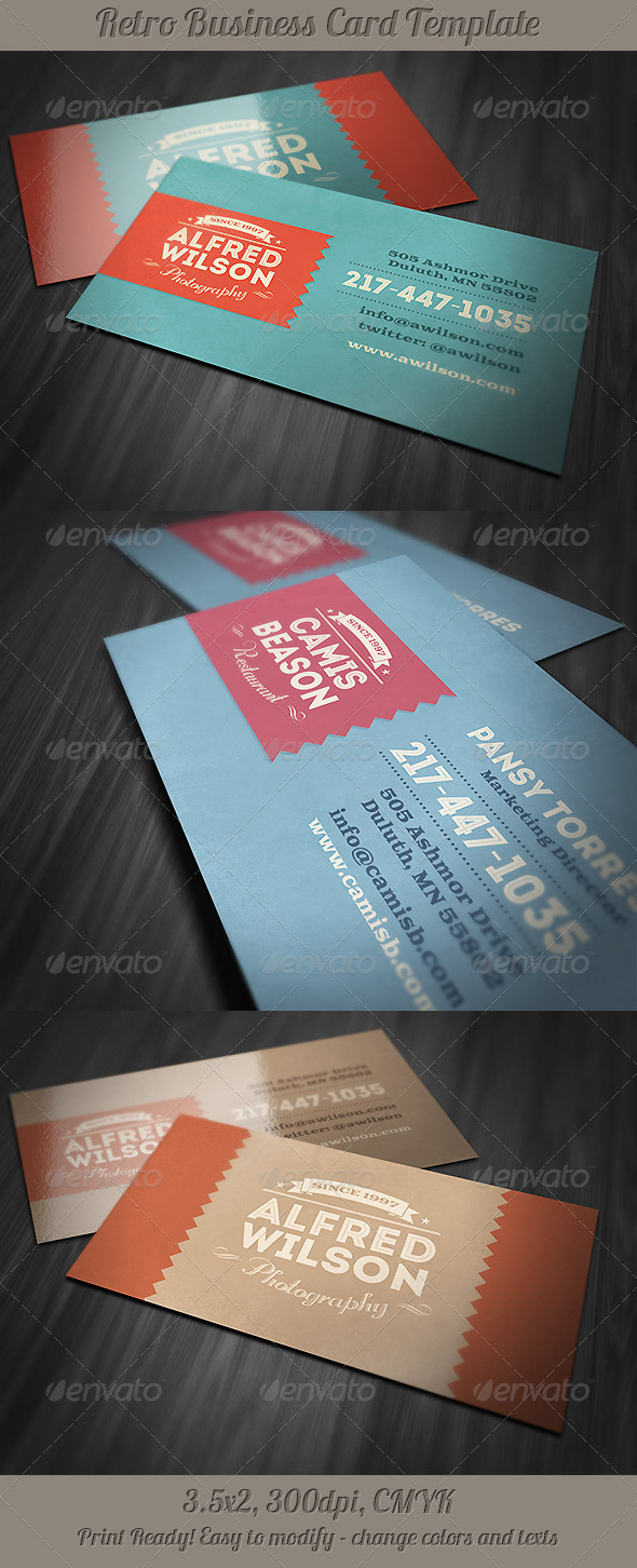 GraphicRiver Retro Business Card 2 5209052