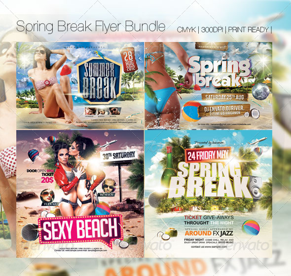 Summer Break Flyer Bundle - Flyers Print Templates