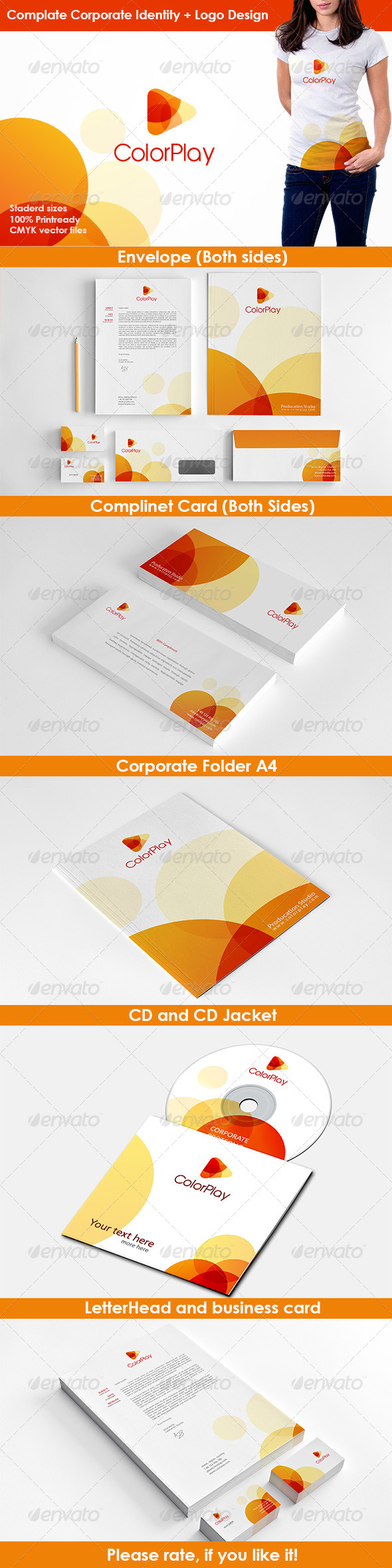 Color Play Studio Stationery - Stationery Print Templates