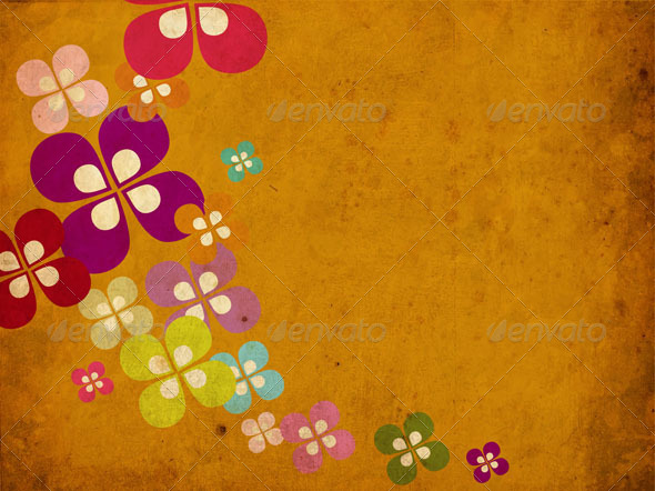 GraphicRiver Vector Retro Flower Background 5210512