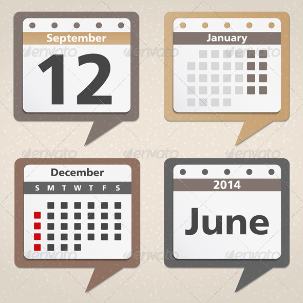 GraphicRiver Calendar Icons 5210871