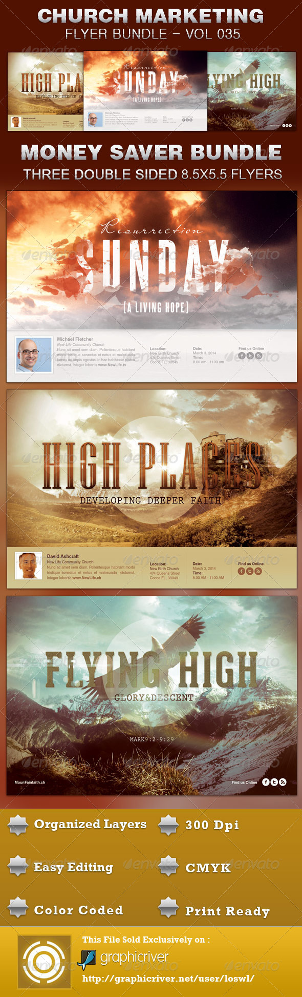 GraphicRiver Church Marketing Flyer Bundle Vol 035 5211154