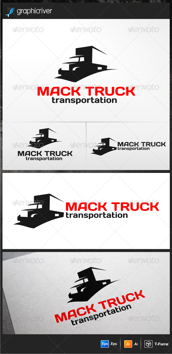 GraphicRiver Mack Truck Logo Templates 5211206
