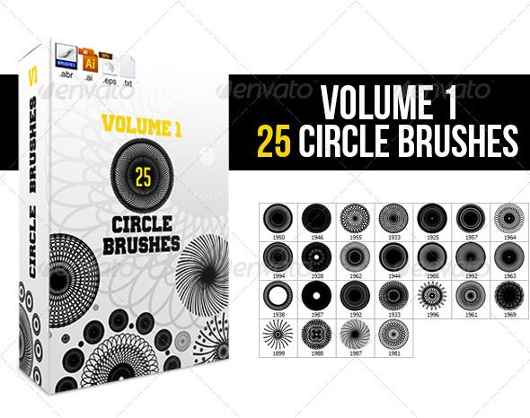 GraphicRiver 25 Circle Brushes 5211736