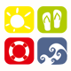 Beach Icons - GraphicRiver Item for Sale