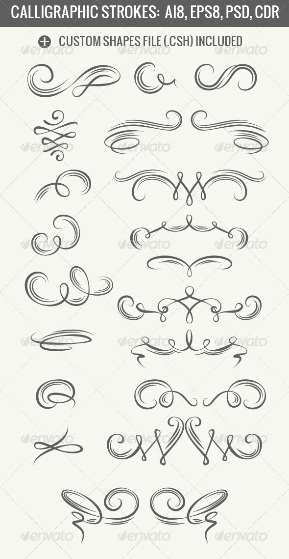 GraphicRiver Calligraphic Strokes 5212028