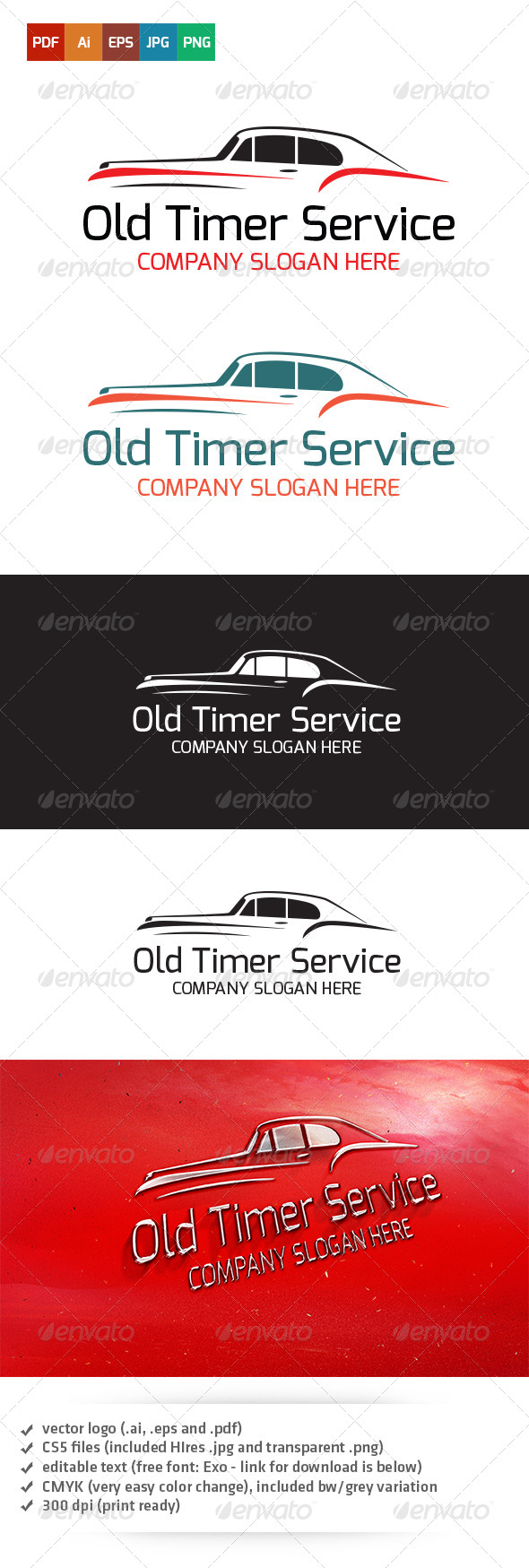 GraphicRiver Old Timer Service Logo 5180880