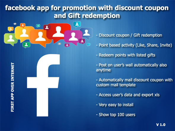CodeCanyon Facebook Promotion with Discount Coupon and Gifts 5212167