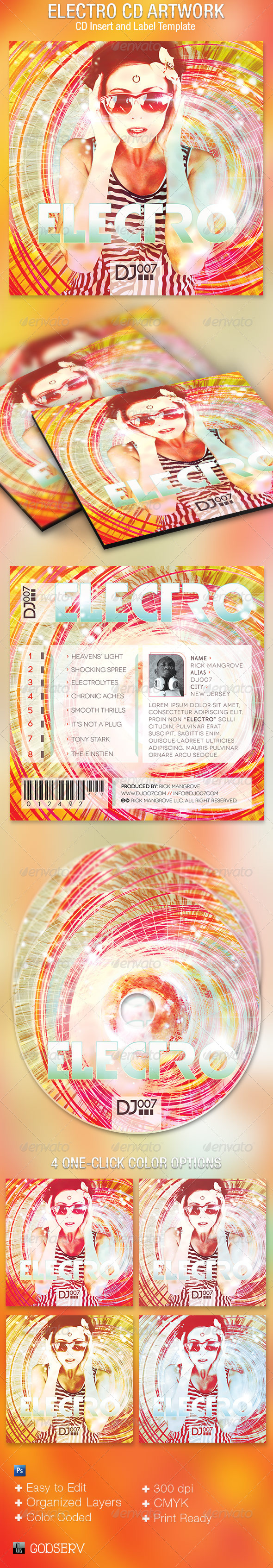 GraphicRiver Electro CD Artwork Template 5212323