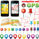 Navigation Set with Icons GPS - GraphicRiver Item for Sale