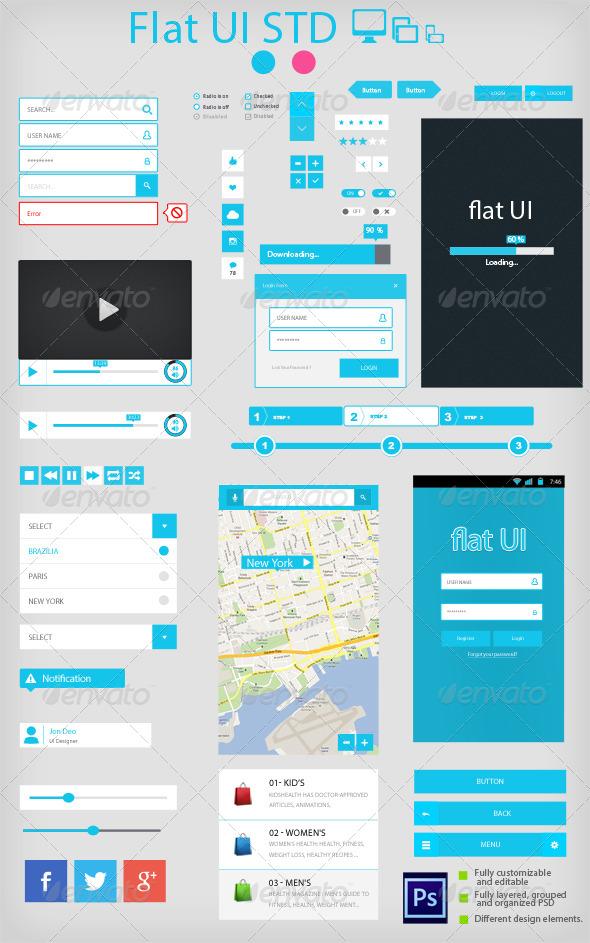 GraphicRiver Flat UI Standard 5212352