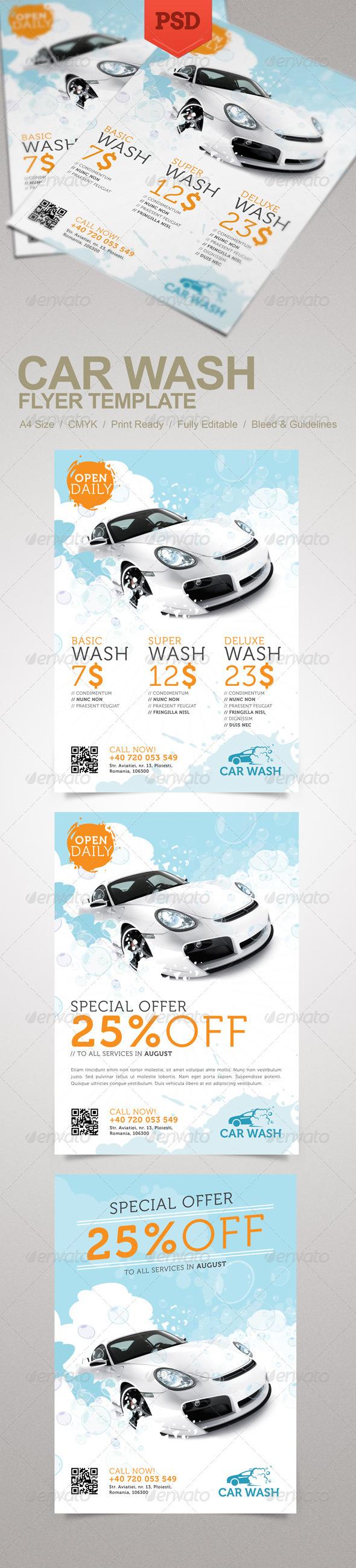 GraphicRiver Car Wash Flyer 5151028