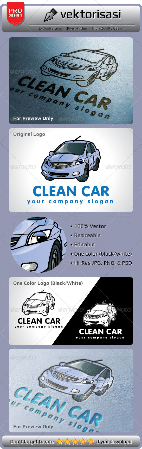 GraphicRiver Clean Car Logo 5206822