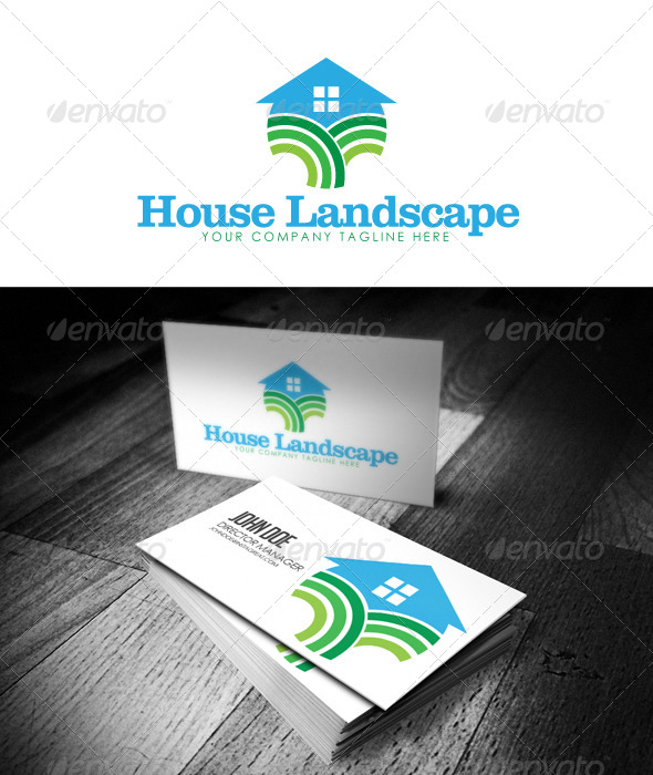 GraphicRiver House Landscape Logo 5200327