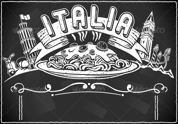 GraphicRiver Vintage Graphic for Italian First Course Menu 5213583