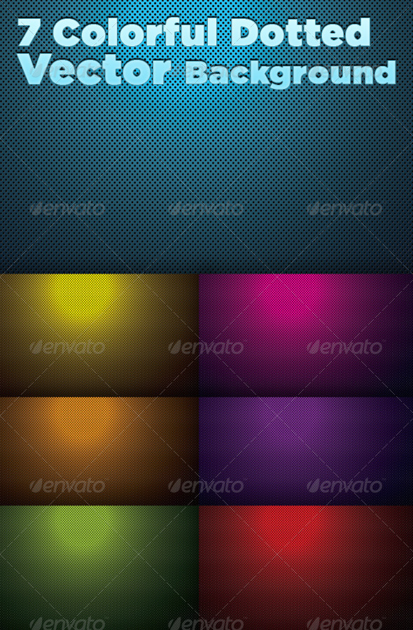 GraphicRiver 7 Colorful Dotted Backgrounds 5213617