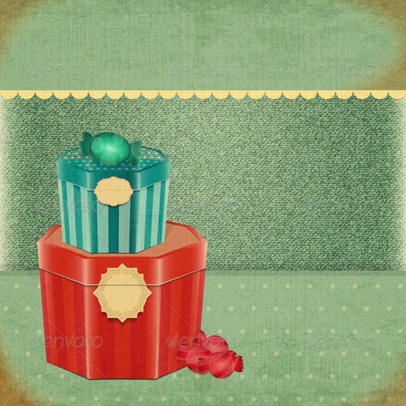GraphicRiver Vintage Birthday Card 5214228