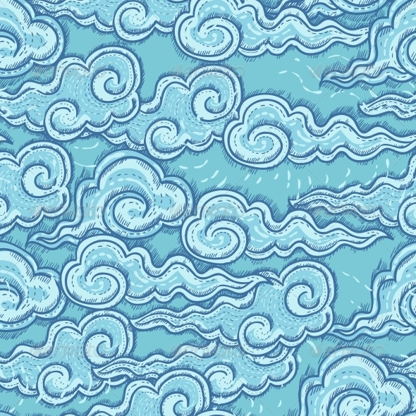 GraphicRiver Seamless Pattern with Waves 5214699