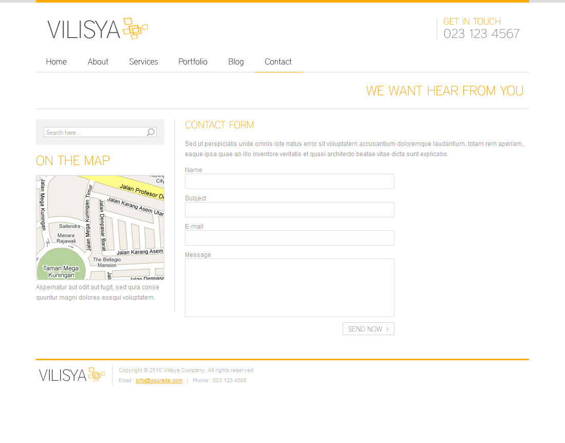 Vilisya - Minimalist Business Wordpress Theme 3