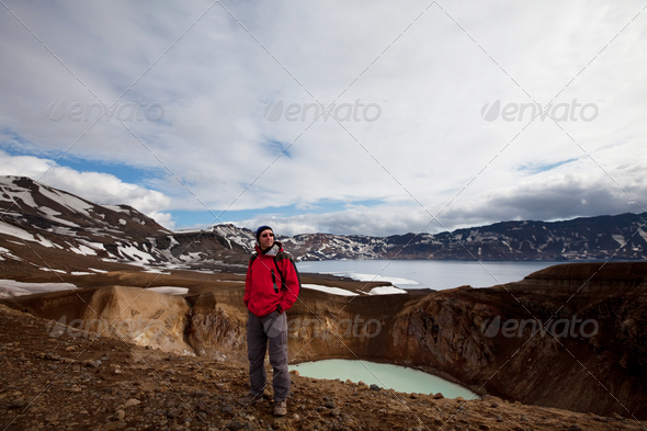 Hike in Iceland - Stock Photo - Images