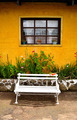 White Bench with Traditional Guatemala House - PhotoDune Item for Sale